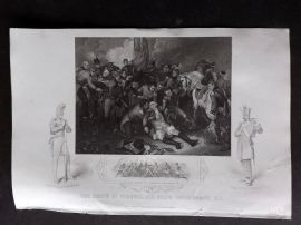 Tallis (Pub) 1854 Military Print. Death of General Sir Ralph Abercromby